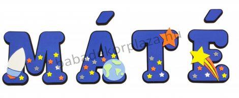 Dekorbetű 15 cm - Űrhajós dekor- 1400 Ft/betű